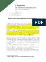 LICENCIATURA en PSICOPEDAGOGÍA Primer Parcial Organización y Administración Escolar