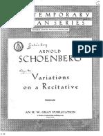 Variationen über ein Rezitativ Op. 40