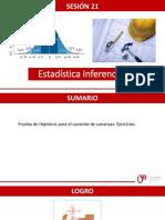 P_sem11_ Ses21_ Intervalos y Prueba de Hipótesis Cociente de Varianza