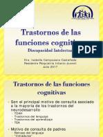 Trastornos de Las Funciones Cognitivas - Isabella Campusano