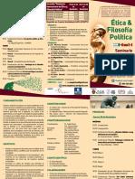 """Trifoliado del Seminario Internacional """"Ética y Filosofía Política para el siglo XXI"""""""