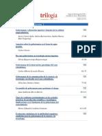 Revista Trilogía_Listado de Artículos