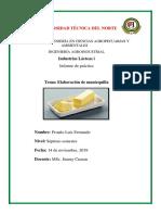 Informe Practica Elaboraciòn de Mantequilla