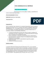 Información de La Empresa C&G Santo Domingo Servicios Generales EIRL