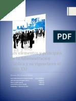 PRINCIPIOS DE LA ADMINISTACION PUBLICA