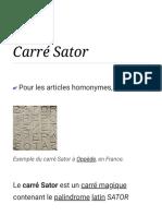 Carré Sator — Wikipédia