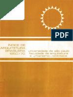 Índice de Arquitetura Brasileira /1950-1970 / Biblioteca FAUUSP