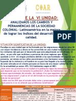 CAMBIOS EN LA SOCIEDAD COLONIAL