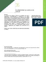 Subjetividad e Intersubjetividad