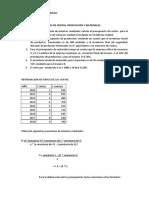 Ejercicio No. 4 Presupuestos de Ventas y Produccion