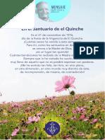 P. Dávila (en El Santuario de El Quinche)
