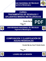 2° CLASE - COMP & CLAS AGUA RESID