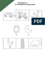 actividad preescolar articulos definidos singular