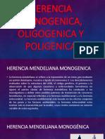 Herencia Monogenica, Oligogenica y Poligenica
