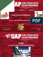 Semana 1- La Nueva Direccion Empresarial-Derecho 2019-2b