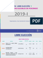 Libre Eleccion 2019-1 Ciencias Políticas
