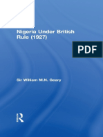 Nigeria Under British Rule (192 - Sir William M.N. Geary