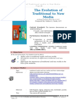 Detailed Lesson Plan on Traditional and Media