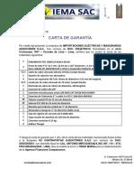 CARTA DE GARANTIA DE LOS MATERIALES VENDIDO A TINGO MARIA.pdf