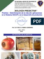Microbiología Predictiva - FFyB - UNMSM 2018 (Práctica - Vida Útil)
