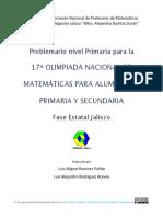 Problemario 17 ONMAPS Jalisco - Primaria