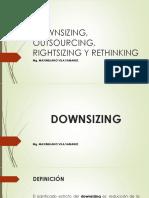 Downsizing, Outsourcing, Rightsizing y Rethinking