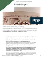 Antecedentes de La Guerra Del Pacífico - Museo de Antofagasta