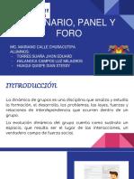Seminario Panel y Foro