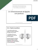03 Ligações Parafusadas Dimensionamento 2017-02-01