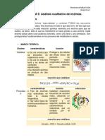 Análisis Cualitativo de enzimas