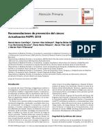 8.- Recomendaciones de Prevención Del Cáncer 2018