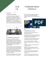 Conversión de Motores de Combustión Interna a Eléctricos