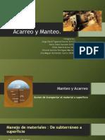 Acarreo y Manteo (1)