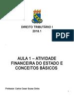 Nota de Aula 1 - Atividade Financeira Do Estado e Conceitos Básico Mar 2018
