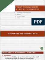 Contemporary Economic Issues Facing the Filipino Entrepreneur