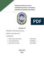 Informe 2 Circuitos 1