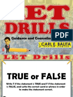 Guidance and Counseling (Drill 7)