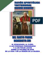 "EXHORTACIÓN APOSTÓLICA POSTSINODAL ""VERBUM DOMINI"""