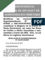 Rs 162-2015 Sunta Boletas de Ventas Electronicas