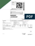 Flipkart order label / invoice