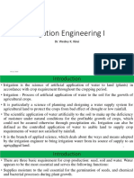 Irrigation Engineering I=1-2