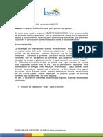 Propuesta Tecnica Don Freddy Alto Palmas