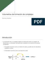 Volumetrías de Formación de Complejos