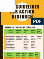 Guidelines in Making an Action Research