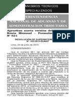 RS163.2015 SUNAT PDT 621