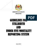 Guidelines for Stillbirth and Under Five Mortality Reporting System