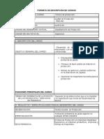 2949587 Formato de Descripcion de Cargos