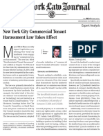 026408New York Law Journal New York City Commercial Tenant Harassment Law T