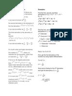 Higher Order Derivatives