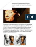 """La increíble historia de los artistas que """"robaron"""" el busto de Nefertiti usando Kinect"""